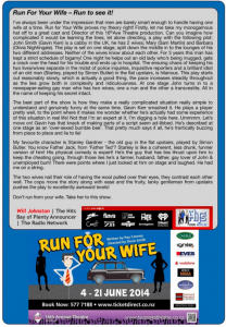 Run for your Wife - The Hits